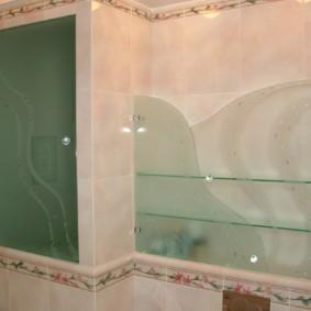 навесной шкаф в ванную фото дизайн