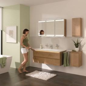 навесной шкаф в ванную фото дизайна