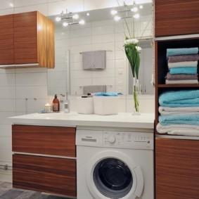 навесной шкаф в ванную фото варианты