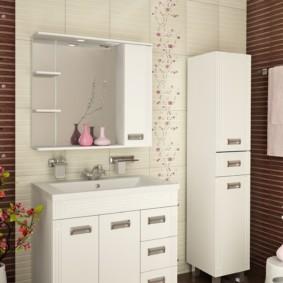 навесной шкаф в ванную идеи