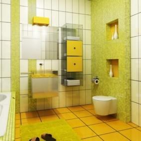 навесной шкаф в ванную идеи дизайн