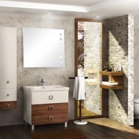 навесной шкаф в ванную идеи дизайна