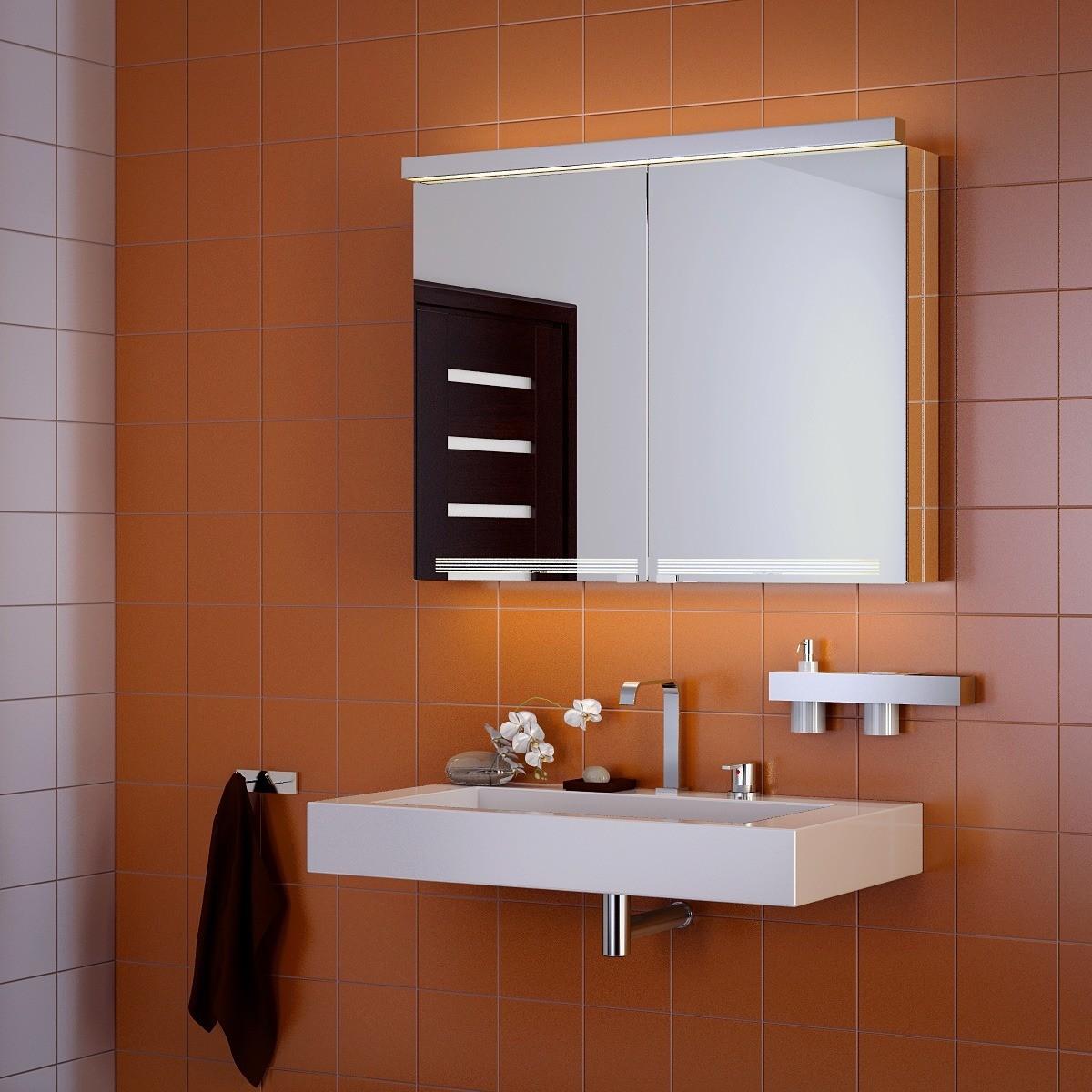 навесной шкаф в ванную идеи фото