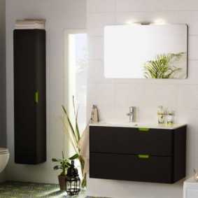 навесной шкаф в ванную идеи интерьер