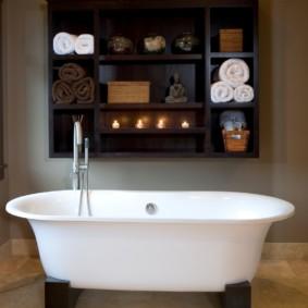навесной шкаф в ванную идеи оформление