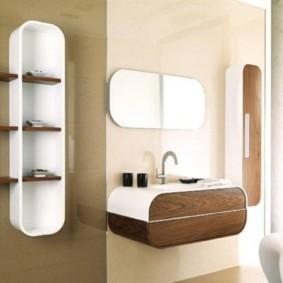 навесной шкаф в ванную идеи видов