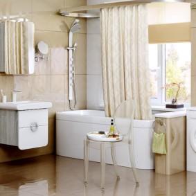 навесной шкаф в ванную оформление идеи