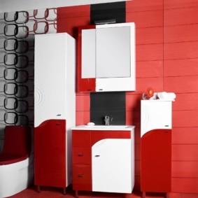 навесной шкаф в ванную варианты идеи