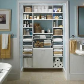 навесной шкаф в ванную виды идеи