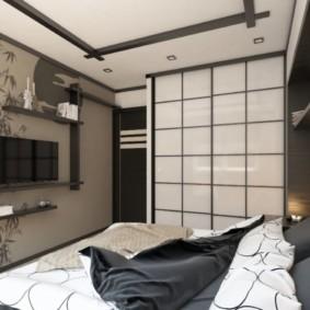 спальня в японском стиле небольшая