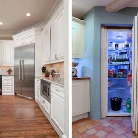 холодильник на кухне идеи интерьер