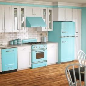 холодильник на кухне фото оформление