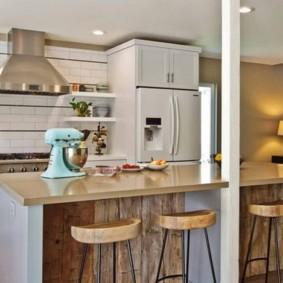 барные стулья для кухни оформление идеи