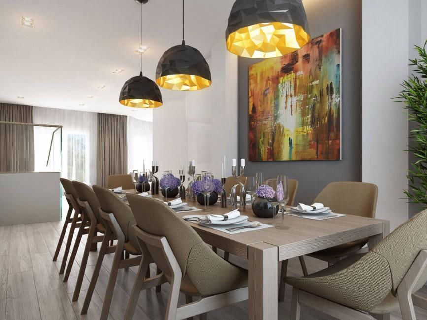 обеденная зона на кухне дизайн фото