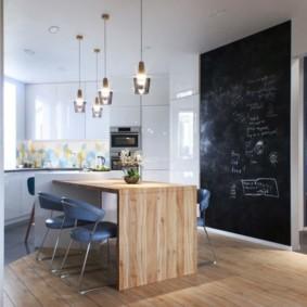 обеденная зона на кухне дизайн интерьера