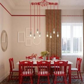 обеденная зона на кухне фото декора