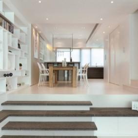 обеденная зона на кухне фото дизайн