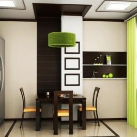 обеденная зона на кухне обзор идеи