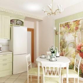 цвет стен на кухне прованс