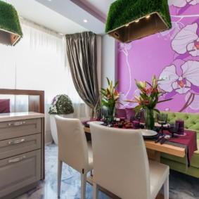 цвет стен на кухне обои