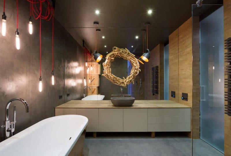 Романтическое освещение в ванной комнате