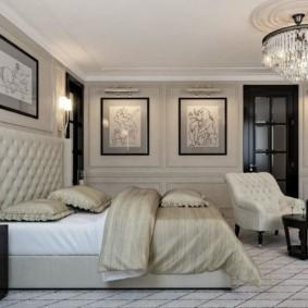 спальня в стиле неоклассика освещение