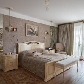 спальня в стиле неоклассика отделка