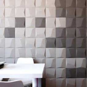 Квадратные декоративные панели для стен кухни