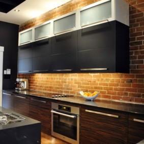 Подсветка рабочих поверхностей в кухне