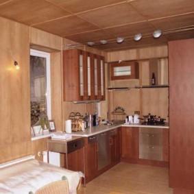 Листовые панели МДФ в интерьере кухни