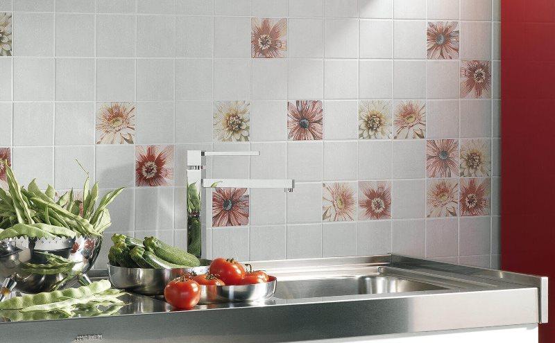 Кухонный фартук из панелей под керамическую плитку