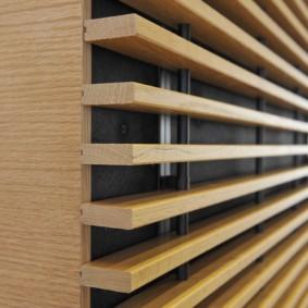 Реечные панели из натурального дерева