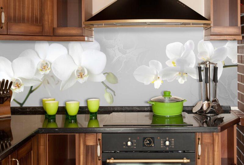 Фотопечать на кухонном фартуке из ПВХ-панелей