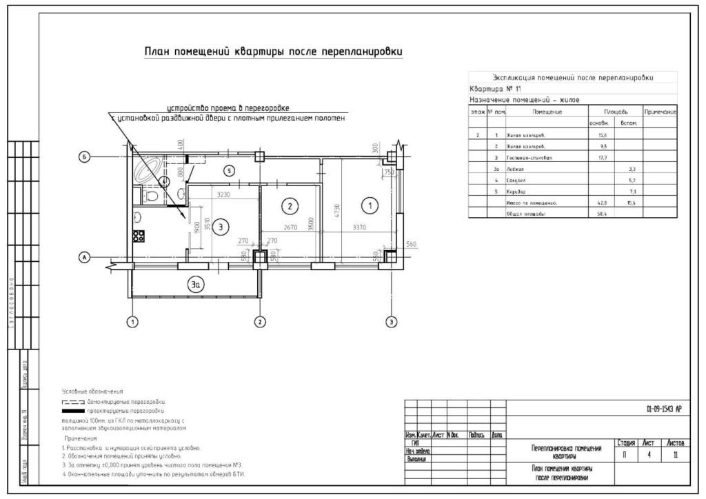 План законной перепланировки кухни в кухню-гостиную