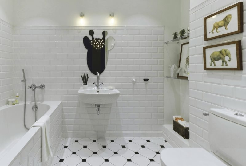 Отделка кабанчиком ванной комнаты в современном стиле