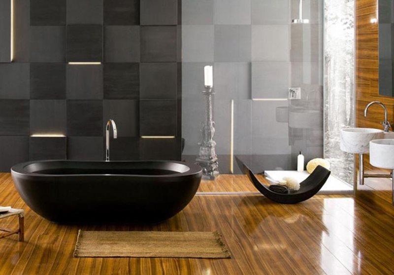 Керамическое покрытие пола с имитацией деревянной поверхности