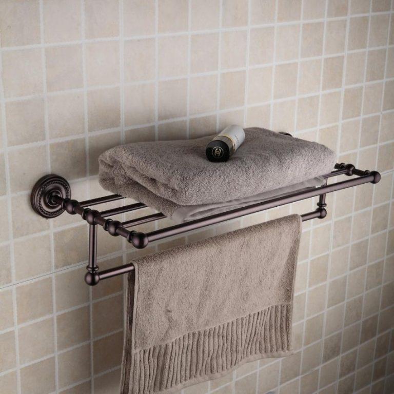 Металлическая полка для банного полотенца