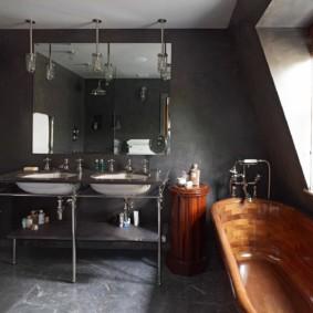 Дизайн ванной комнаты в индустриальном стиле