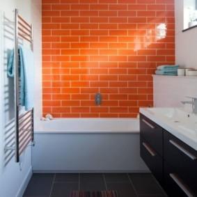 Плитка кабанчик морковного цвета