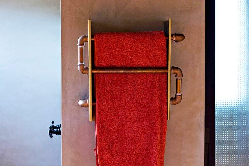 Сушилка для полотенец из медных труб своими руками