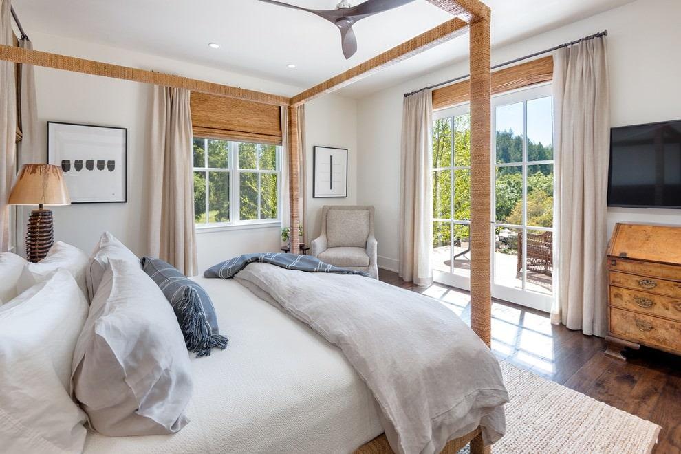 римские шторы для спальни