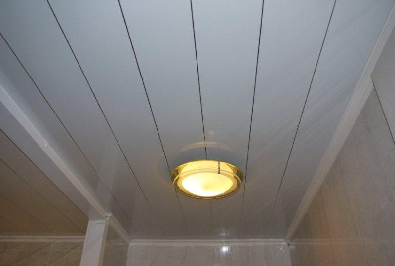 Потолочный светильник на пластиковых панелях