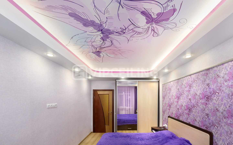 сиреневая спальня интерьер