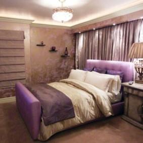 сиреневая спальня идеи фото