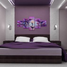 сиреневая спальня идеи дизайн
