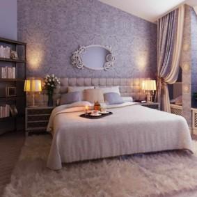 сиреневая спальня идеи дизайна