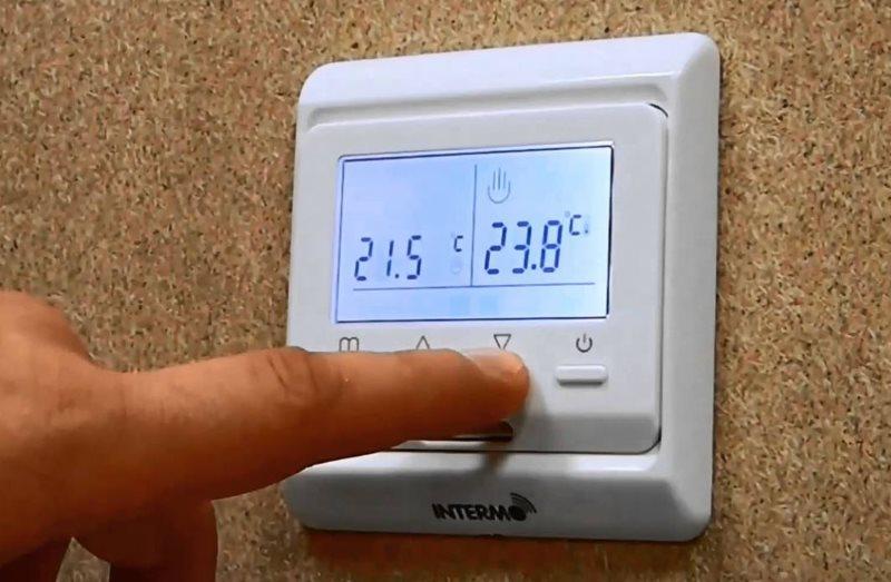 Пульт управления работой теплого пола электрического типа