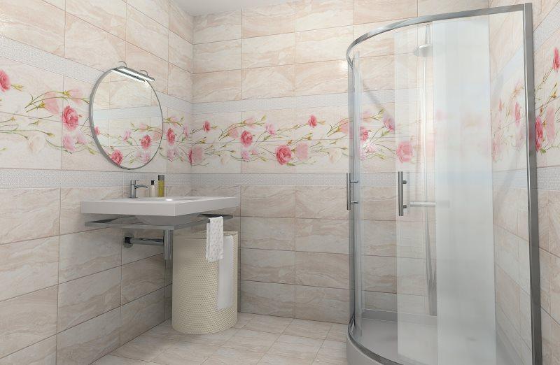Угловая кабина в ванной с пластиковыми панелями
