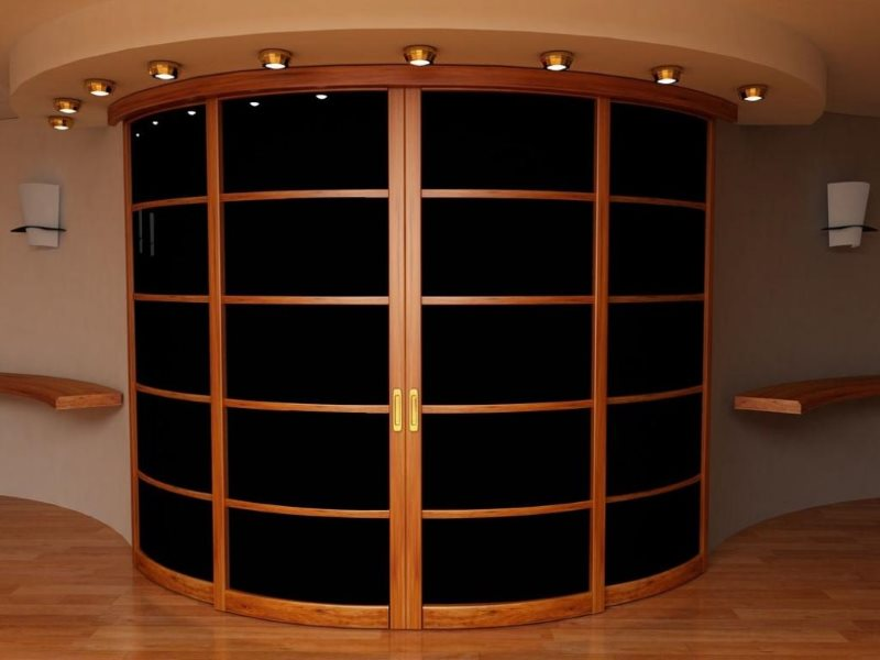 Раздвижные двери радиусного типа