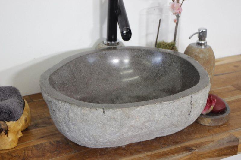 Каменная раковина в стиле лофта
